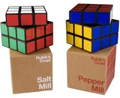 Rubik's Cruet Salt & Pepper Mill