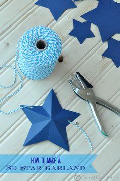 DIY ~ 3d star garland