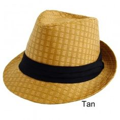 Mens Ladies Summer/Beach Trilby Hat Woven Straw Style Unisex Tan