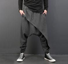 INCERUN Yoga Fisherman Striped Trousers Mens Womens Linen Cotton Hoiday Pants UK