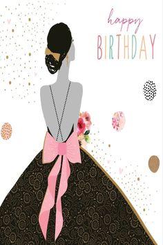 Birthday Cards For Women, Art Deco Fashion, Happy Birthday, London, Disney Princess, Disney Characters, Illustration, Prints, Happy Brithday