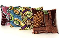 African Prints At Home on @HGTV by Jeanine Hays.  Etsy Amani At Home African Batik Pillows.