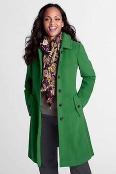 Women's Luxe Wool Swing Car Coat from Lands' End - $220