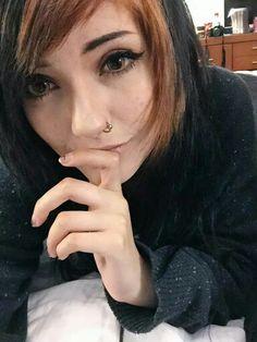 Leda Monster Bunny, I Want To Cuddle, Leda Muir, Color Change, Black Hair, Hair Color, Pretty, Instagram Posts, Emo Goth