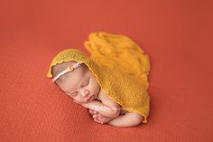 Eliana's Mini Newborn Session Photos with Melz Photography, a Bloomfield, New Jersey Photographer specializing in Maternity, Newborn and Child photography. Newborn Headbands, Newborn Session, Baby Girl Newborn, Newborn Photos, Baby Girl Poses, Lace Wrap, White Headband, Orange, Yellow