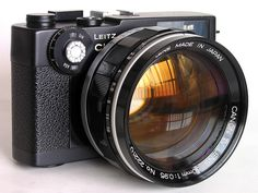 Canon TV Lens on a Leitz Minolta CL (which was co-developed by Leica and Minolta, and manufactured by Minolta)