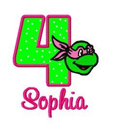 Girl Ninja Turtles Birthday Shirt - Pink Girly TMNT Shirt Embroidered by MawMaw Made It Girl Ninja Turtle, Ninja Girl, Ninja Turtle Birthday, Ninja Birthday Parties, 3rd Birthday, Birthday Ideas, Mutant Ninja, Teenage Mutant, Tmnt Turtles