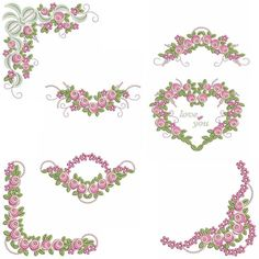 MORE HEIRLOOM ROSES Machine Embroidery Designs Pes Format--10 Designs