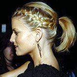 French braid ponytail.