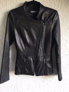 Stunning KOOKAI black luxe calf Leather jacket. Super soft leather. tried  to wear it 1a882ff02