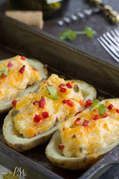 Twice Baked Pimento Cheese PotatoesReally nice recipes. Every  Mein Blog: Alles rund um die Themen Genuss & Geschmack  Kochen Backen Braten Vorspeisen Hauptgerichte und Desserts # Hashtag