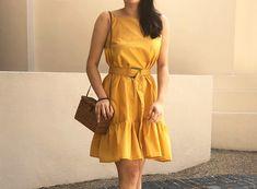 DIY Slanted Neckline Sundress
