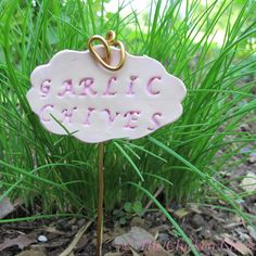 Simple DIY Garden Markers from polymer clay