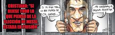 Sport Cartoon For Today: Lionel Messi In Jail