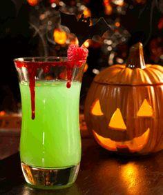 Halloween Party Drink Green Goblin #iloveavocadosforhalloween