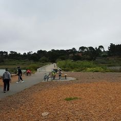 Lake Merced - San Francisco, CA, United States. Shortcut bridge
