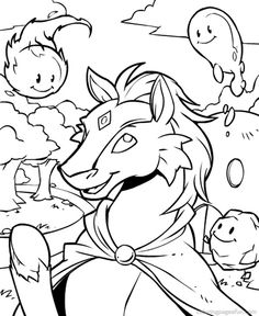 Neopets – Brightvale Coloring Pages 9
