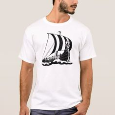 Shop Viking Boat ~ Vintage Ship Boats Marine Art T-Shirt created by mapshoppe. Personalize it with photos & text or purchase as is! Paddle Boat, Retro Art, Vikings, Shirt Style, Boats, Your Style, Shirt Designs, Steamers, Mens Tops