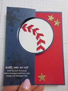 "Baseball ""You're A Star"" Card using Gorgeous Grunge & Pictogram Punches Stamp Set - Stampin' Up!® - Stamp Your Art Out! www.stampyourartout...."