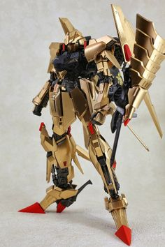 GUNDAM GUY: 1/100 Gundam of Gold Delta - Custom Build