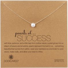 Dogeared Gold Filled Pearls of Success Necklace