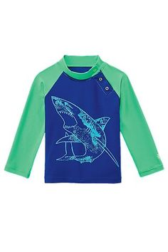 The Baby Boy's Rash Guard is great for any sport with its chlorine and saltwater-resistant fabric. Every garment at #Coolibar is rated UPF 50+ for sun protection all year long.