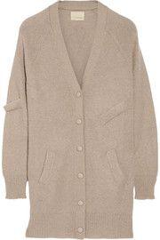 Oversized mohair-blend cardigan