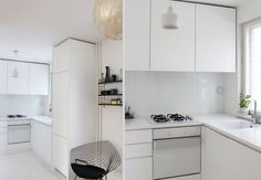 Simple and white kitchen