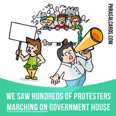 """""""March on"""" means """"to walk in a group towards a place in order to protest against something"""". Example: We saw hundreds of protesters marching on government house. Get our apps for learning English: learzing.com"""