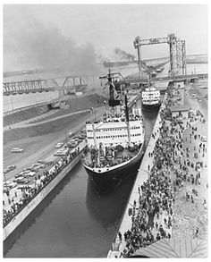 On June 26, 1959, the St. Lawrence Seaway opens.