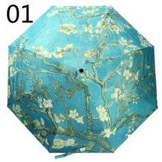U2 Band Sun Protection Umbrella,Waterproof Travel Automatic Tri-fold Umbrellas