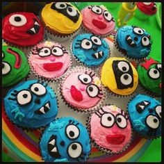 Cupcakes for a #YoGabbaGabba themed party! #funfood #party #summerparty