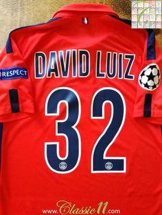 cb86940bb 2014 15 PSG Third Football Shirt   Vintage Jersey David Luiz  32