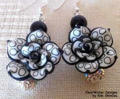Polymer Clay Jewelry Flower Dangle by ClearWaterDesignsbyK on Etsy, $24.96