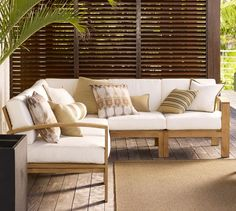 Build Your Own - Madera Teak Sectional Components | Pottery Barn