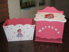 Arte Country, Baby Shower, Ideas Para, Decoupage, Packing, Crafts, Baby Box, Painted Boxes, Ornaments