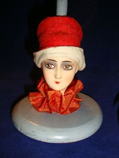 Boudoir doll HAT STAND GERMANY