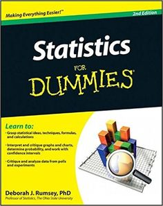 Packed with practical advice and real-world problems, Statistics For Dummies gives you everything you need to analyze and interpret data for improved classroom or on-the-job performance. P Value, Statistical Data, Economics, Mathematics, Good Books, Ai Books, All About Time, Told You So, How To Apply