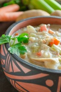 """Creamy Leftover Turkey Stewwill become your new """"go to"""" recipe for leftover Thanksgiving turkey meat. My family loved this soup so much they ate the entire pot at dinner, so I made a …"""