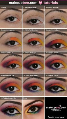 sugarpill makeup tutorial | love this Sugarpill Rainbow Eye Shadow because it has a great mix
