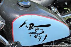 Skeleton tank motorbike Harley Davidson