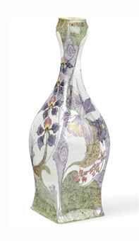 A Dutch egg-shell porcelain vase, 1902