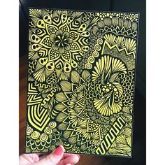 Yellow doodle by blynnxoxo on Instagram