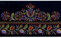 This book illustrates 67 beautiful embroidery patterns from the former Czechoslovakia on 20 full-page color plates, together with working directions. Hungarian Embroidery, Folk Embroidery, Learn Embroidery, Chain Stitch Embroidery, Embroidery Stitches, Embroidery Designs, Stitch Head, Embroidery Flowers Pattern, Flower Patterns