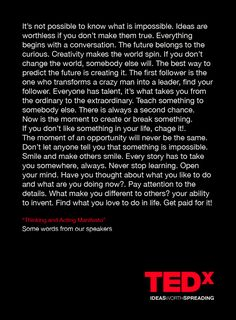 Ted Talks Manifesto
