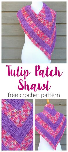 The Tulip Patch Shawl is like a breath of fresh spring air!  I'm always so excited to welcome spring after a long, cold winter.  ...