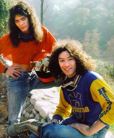 Eddie and Alex Van Halen were also big time Husqvarna lovers. Alex Van Halen, Eddie Van Halen, Glam Rock, Hard Rock, Music Rock, Grunge, David Lee Roth, Best Rock Bands, Sammy Hagar