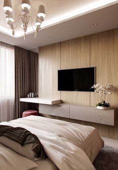 96 fabulous modern minimalist bedroom furniture - Home Sweet Tv In Bedroom, Master Bedroom Design, Bedroom Decor, Bedroom Ideas, Bedroom Small, Bedroom Designs, Modern Minimalist Bedroom, Hotel Room Design, Modern Bedroom Furniture