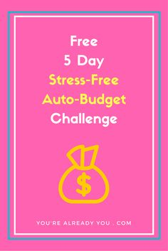 """Budgets are old school & stressful. Set up a stress-free auto-budget instead.   """"We managed our money with an auto-budget and it's allowed us to catch up and be a month ahead of ourselves. These techniques allowed us to make better decisions and not feel worried or anything.""""  You'll get free tools, videos and examples to help you create your own stress-free auto-budget.   Click to sign up and be notified when the challenge begins."""