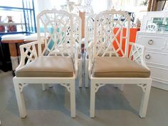 Fretwork PAGODA Chairs for the Kitchen :)